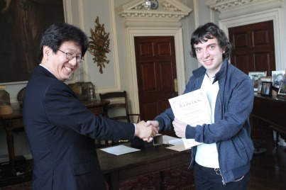 Aaron Adams and Professor Toshihiro Kawakatsu