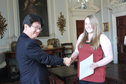 Hannah Thurlbeck and Professor Toshihiro Kawakatsu