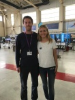 Celebrity mathematician Rachel Riley was at RAF Scampton to encourage girls to study STEM subjects.