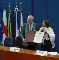 Dr Evgeny Khukhro receives the title of Professor Honoris Causa