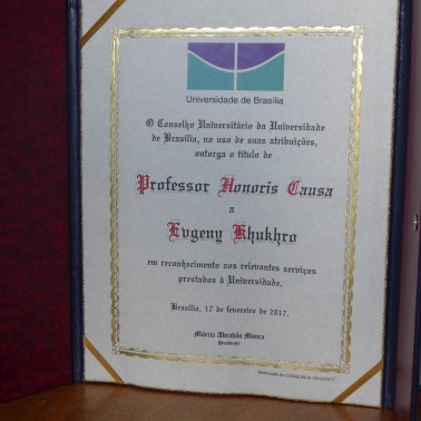 Certificate of Professor Honoris Causa