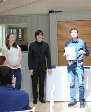 Fabien (right) receives his star.