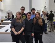 3rd year Physics team - winners of the Xmas Quiz!
