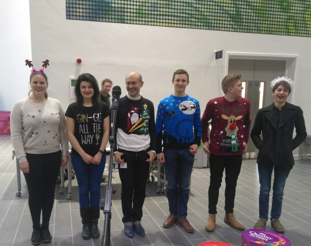 Students and staff Xmas outfits